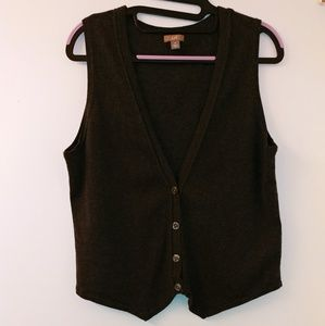 J. Jill soft fine Cotton Cashmere Sweater Vest Med